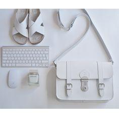 white leather satchel by Grafea www.grafea.co.uk