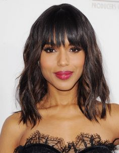 click for Kerry Washington's curated fashion picks! I love the ballet tee from J Crew... And her hair is gorgeous!