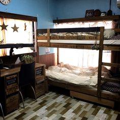 省スペースで経済的!子供の自立心も育める♪2段ベッドのあるお部屋 | RoomClipMag | 暮らしとインテリアのwebマガジン