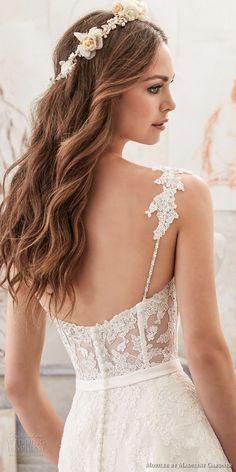 morilee spring 2017 bridal spagetti strap sweetheart neckline heavily embellished bodice romantic modified a  line wedding dress chapel train (5514) zbv