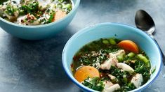 Poached chicken broth, winter warming soups, chicken and vegetable soup, soul soothing soup Recipe Minestrone, Healing Soup, Lemon Soup, Light Soups, Poached Chicken, Veggie Soup, Easy Soup Recipes, Slow Cooker Soup, Pumpkin Soup
