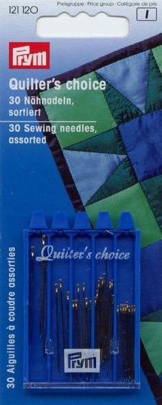 Prym Quilting Needles. Ann specifically uses Size 12.