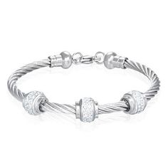 Stainless Steel Trio Crystal Tube Ring Celtic Twisted Cable Wire Bracelet w/ CZ The Displayer. $45.99. Stainless Steel Trio Crystal Tube Ring Celtic Twisted Cable Wire Bracelet w/ CZ