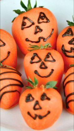 Pumpkin strawberries