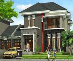70 Minimalist And Classic House Color Designs Minimalist House Design, Minimalist Architecture, Minimalist Home Interior, Small House Design, Modern House Design, Architecture Design, House With Land, My House, Dream House Plans