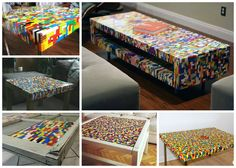 At CreativeSpotting we are big fans of LEGO even if we don't play anymore with them. But, we love to see how other LEGO lovers can use them to make some cool things with them such as these coffee tables! Last 3 photos: Kuku Praline…