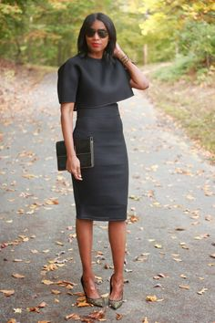 DIY neoprene highwaist pencil skirt and crop top-Beaute' J'adore