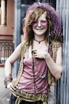 New style boho janis joplin Ideas Janis Joplin, Flower Power, Me And Bobby Mcgee, Rock Poster, Women Of Rock, Estilo Hippie, New Wave, Music Icon, Female Singers