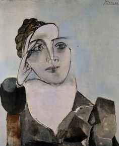 Pablo Picasso, Portrait of Dora Maar (Theodora Markovich), 1936. Mourlot lithograph, ed. 214/350. Santa Barbara Museum of Art, AnonymousDonor.