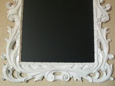 WHITE CHALKBOARD Large Ornate Vintage Framed by shabbymcfabby, $174.00