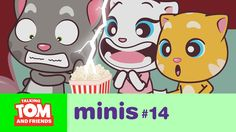 Talking Tom and Friends Minis - Horror Movie Night (Episode xo, Talking Angela Mini 14, Tom S, Big Star, Pretty Cool, Horror Movies, Hanging Out, More Fun, Videos, Things That Bounce