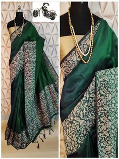 Stylish Look Multi Color Raw Silk Weaving Saree With Rich Pallu -Style Array Kimono Top, Weaving, Sari, Banarasi Sarees, Stylish, Green Colors, The Row, How To Look Better, Delivery