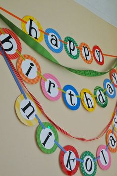 Birthday banner. Layers, even better.