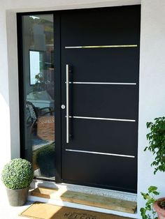 16 charming front door designs to choose from .- 16 charmante Haustür-Designs, die Ihnen bei Ihrer Auswahl helfen – Hauseingan… 16 charming front door designs to help you make your selection entrance - Main Entrance Door, Entrance Decor, House Entrance, Entrance Ideas, Entry Doors, Exterior Decoration, Contemporary Front Doors, Modern Front Door, Front Entry
