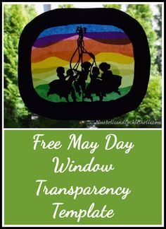Free May Day Window Transparency Template | From Blue Bells and Cockle Shells