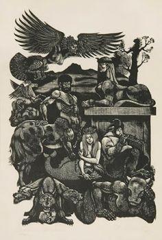 Fabulous Beasts by Fritz Eichenberg