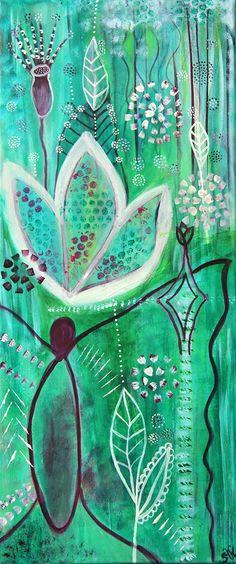 Metamorphose by Sandra Krensel Acryl auf Leinwand 30 x 70