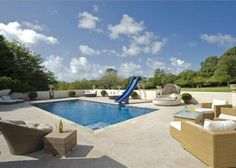 Swimming Pool - the absolute dream - complete with blue sky and sun, in Guernsey
