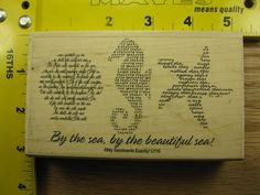 SHELL SEAHORSE STARFISH Rubber Stamp.