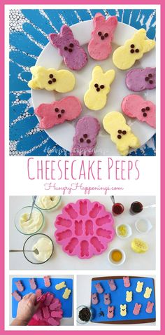 Today I've combined two of my loves, cheesecake and Peeps, into one festive Easter Dessert. These Naturally Colored Raspberry, Blueberry, and Lemon Cheesecake Peeps will be served as dessert to my family at our Easter dinner. This post is brought to you by Wilton.