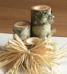 Wedding or Home Decor Tealight Candle Sets with by aTwistOfNature, $22.00