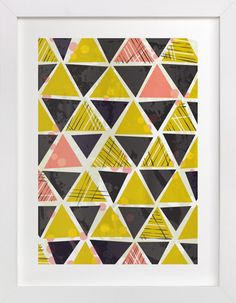 Tribal Triangles by 2birdstone at minted.com