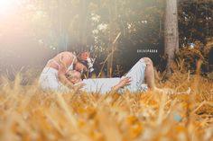 Fotografia de casal tratada em Photoshop e Lightroom / efeito outono