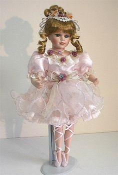 "16"" Porcelain Ballerina Doll Meghan Pretty Dolls, Cute Dolls, Beautiful Dolls, Porcelain Ceramics, China Porcelain, Ballerina Doll, China Tea Sets, Ceramic Animals, Doll Furniture"