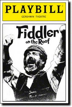 Playbill Cover for Fiddler on the Roof at George Gershwin Theatre - Opening Night, Dec 1990