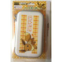 Pokemon Center 2012 Nintendo 3DS/DSi/DS Lite Eevee Hard Pouch Carrying Case