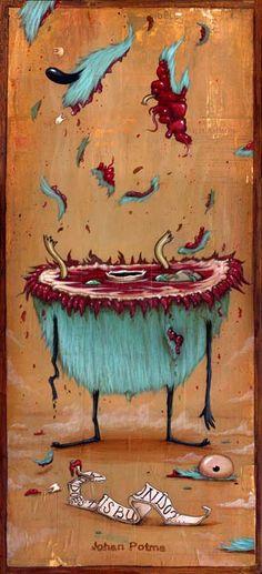Johan Potma - Illustration - Monster - Famous last words.