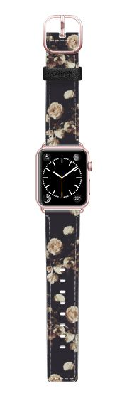 Casetify Apple Watch Band (38mm) Saffiano Leather Watch Band - Antique Floral by Allison Reich #Casetify USE CODE: R7RAGW for DISCOUNT anywhere in Casetify.com #watch #watchband #iwatch #applewatch #applewatchband #floral #flowers #girly #trend #vintage #roses #style #accessories #fashion #cute #love #xoxo #gift #gifts #apple