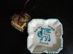 Vintage Hotel Nord Roma Souvenir Ashtray Pin Dish by breaksmyheart, $25.00
