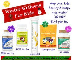 Winter Wellness For Kids with Shaklee - gatheredinthekitchen.com