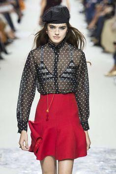 Christian Dior, Frühjahr/Sommer 2018, Paris, Womenswear Christian Dior, Spring Summer 2018, Backstage, Spring Summer Fashion, Cool Style, Polka Dots, Women Wear, Mini Skirts, Style Inspiration