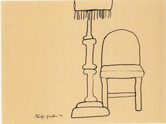 MoMA | The Collection | Philip Guston. Lamp and Chair. 1974