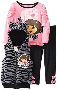 Nickelodeon Little Girls' Dora 3 Piece Zebra Print Vest Pullover and Pant, Pink, 3T Paris Hilton http://www.amazon.com/dp/B00D4J6C7E/ref=cm_sw_r_pi_dp_tuDMub0T30ZJ4