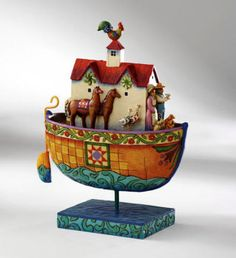 Folk art- I have one of these. It is Noah's arch. One of my favorite bible stories of God's promises.
