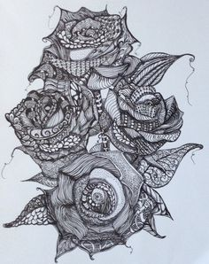 1000 Images About Roses To Color On Pinterest