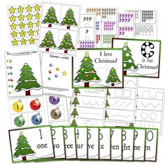 "preschool Christmas printables- maybe not ""classical""- but looks fun, and like a good site to check out"