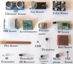 Different Types of Sensors and their Working Basic Electronic Circuits, Electronic Circuit Projects, Electrical Projects, Electrical Installation, Electronic Art, Electrical Engineering, Electronic Schematics, Electronics Basics, Electronics Components