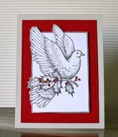 Christmas Dove , Serendipity Stamps