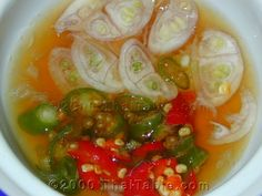 Thai chile fish sauce. Just looking at this makes my mouth water. Thai recipe