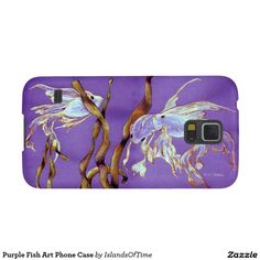 Purple Fish Art Phone Case