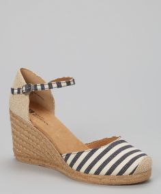Navy & White Mamba Espadrille | something special every day