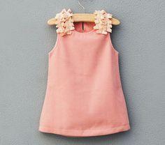 Petal trimmed shift dress in pink