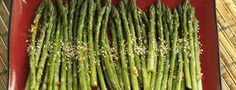 Broiled Asparagus with Sesame Sauce