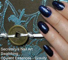 Opulent Essences - Gravity Swatch #secretarysnailart #opulentessences #swatch #swatches #ukpolish #indiepolish
