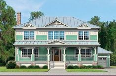 Ridgewood – Coastal - This 2,500 square foot two-story design features a large great room, separate foyer with ½ bath, first floor master bedroom and bath, and three additional bedrooms upstairs. This four-bedroom home also offers a flex room for family entertainment, crafts or whatever a family's needs may be. Options include a fifth bedroom, an alternative master bath, a basement and an alternative elevation plan.