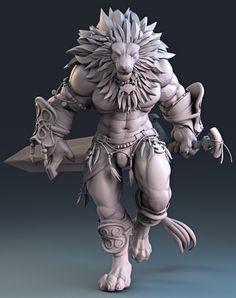 Lion Warrior by Manuel De Jorge